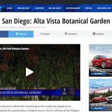 Explore San Diego: Alta Vista Botanical Gardens
